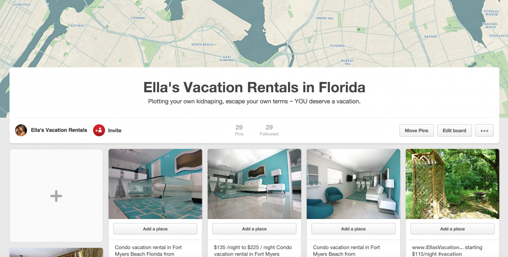 Ella's Vacation Rentals in Florida on Pinterest